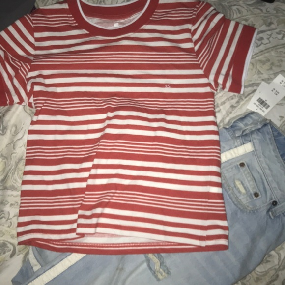 PacSun Tops - Striped cropped T-shirt